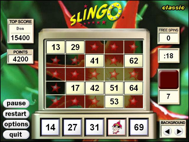 aol games 5 card slingo