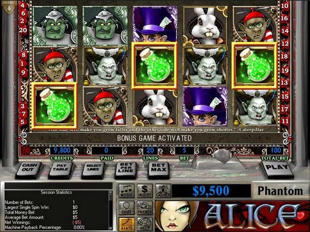 free slot alice in wonderland