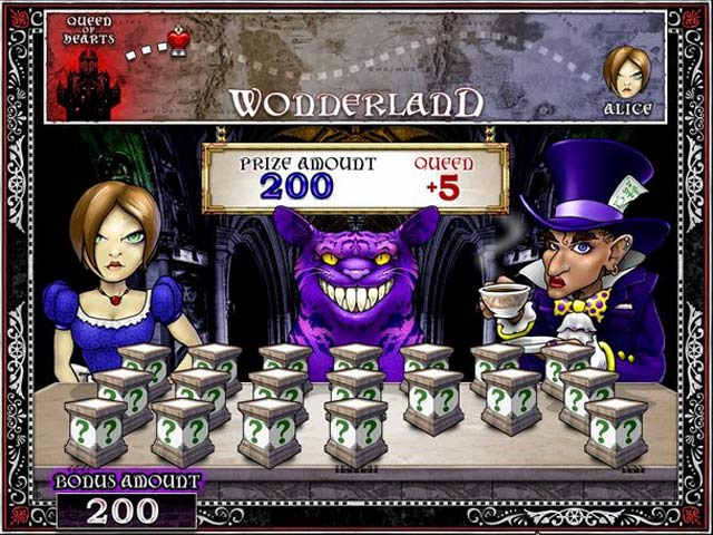 free online alice in wonderland slots video