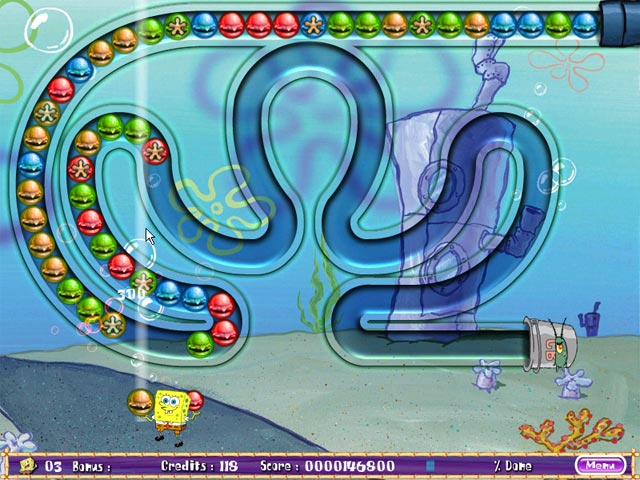 SpongeBob SquarePants Bubble Rush! Screenshot http://games.bigfishgames.com/en_spongebobsquarepbr/screen2.jpg