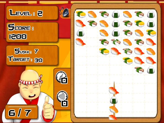 Uplay sushi stick for Sashimi fish crossword