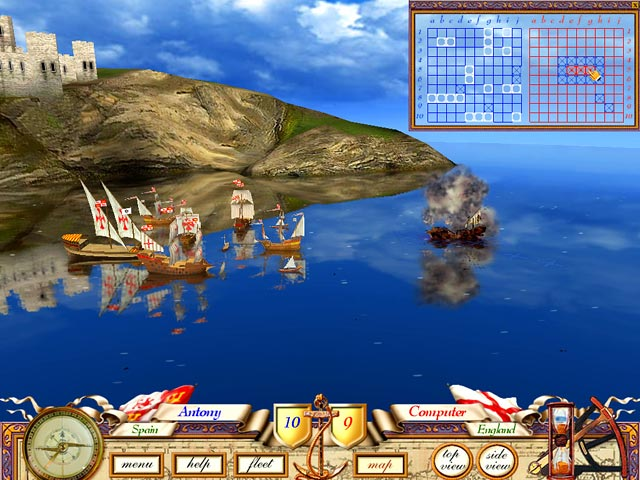Gra The Great Sea Battle: The Game of Battleship Gra Bezpłatne