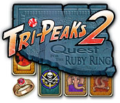 Tri-Peaks 2: Quest for the Ruby Ring Feature Game