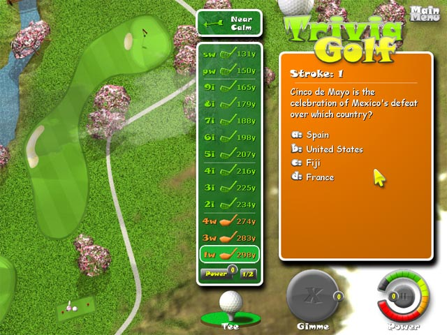 Gra Trivia Golf Gra Bezpłatne