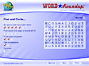 in-game screenshot : Word Roundup (og) - Round up the hidden words!