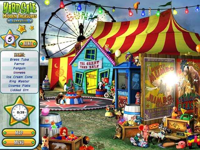Click To Download Yard Sale Hidden Treasures: Sunnyville