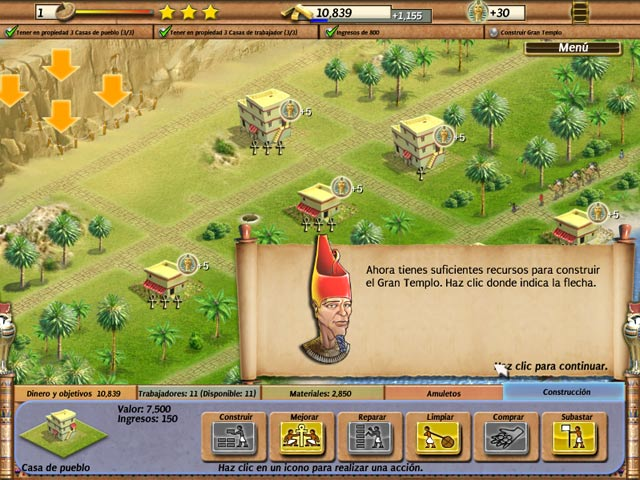 juego Empire Builder Antiguo Egipto estrategia