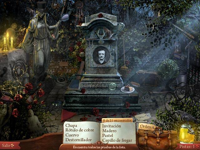 Midnight Mysteries:  La Conspiración de Edgar Allan Poe Capturas de pantalla