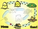 in-game screenshot : Kotori Chicks`n Cats (pc) - Amenez les poussins dans un lieu sûr.