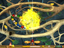 in-game screenshot : Les Royaumes du Ciel (pc) - Un jeu de destruction de billes explosif !