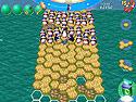 in-game screenshot : Penguins' Journey (pc) - Aidez les pingouins à traverser l'eau.
