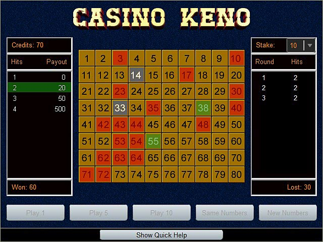 Casino keno games ballys las vegas casinos