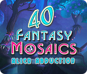 Fantasy Mosaics 40: Alien Abduction for Mac Game