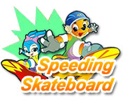 Speeding Skateboard